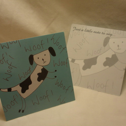 Woof Woof Notecards - pk 10 *Charity Cards*