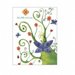 *SALE* Little Tree with Butterfly Note Cards - pk 10