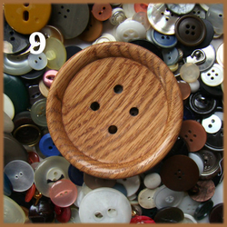 "Giant wooden button 3 1/4"" / 80mm"