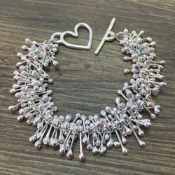 'Molly-Rose' Sterling silver double bracelet
