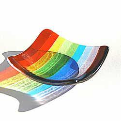 Glass Dish in Rainbow - Chromatic Small Dish (CSDt-002)