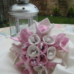 Wedding Bridal Fabric Bouquet - Petite Posy- Choose your colour scheme