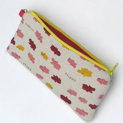 Hip Hip Hippo - Padded case - pencil case