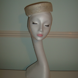 Ivory Sinamay Pillbox Hat - Handblocked