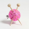 Sparkly Pink Knitter's Brooch - Yarn and Needles