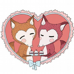 Fox and Cupcakes PRINT