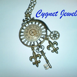Steampunk Penny Farthing Necklace