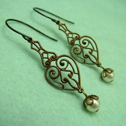 Celtic Pearl earrings