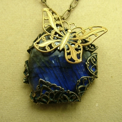 Labradorite Butterfly Necklace