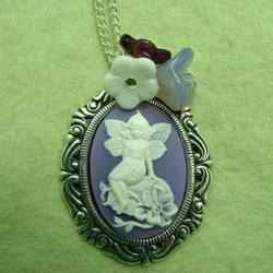 Lavender Faerie Cameo Necklace