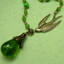 Olive Branch: Bird Necklace