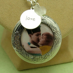 Vintage Postcard Love Locket