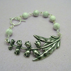 Lily of the Valley Bracelet with Howlite