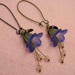 Blueberry Vintage style Earrings