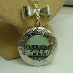 C'est La Vie (That's Life) Locket
