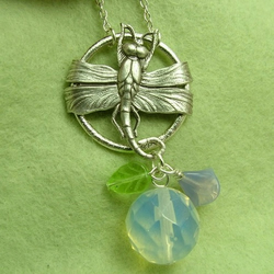 Dragonfly Moon Necklace