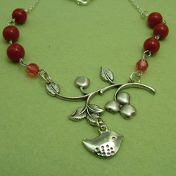 Bird in a Cherry Tree necklace