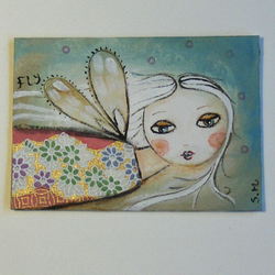 "ACEO ""first flight"". Original painting."