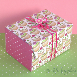 Cupcakes and Roses Printable Gift Boxes - diy boxes - B1007