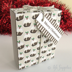 Printable Christmas Gift Boxes - 2 diy templates, Christmas Puddings and holly