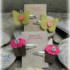 Cupcake & butterfly clips