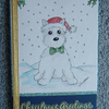 hand painted westie dog Christmas card (ref 713)