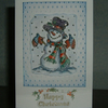 CHristmas snowman greetings card