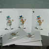 5 x hand painted gift tags...cards (Ref 725)