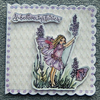 5x5 fairy greetings card (ref 755)