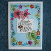floral friend's greetings card (ref 801)