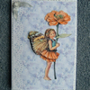 flower fairy 7x5 blank greetings card.(ref 807)