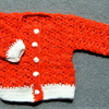 SALE Red glitter baby cardigan(ref f 133)