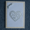 Valentine  Heart blank 7x5 greetings card (ref 851)