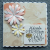 Floral greetings card 5x5 original (ref 856)