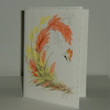Hand painted floral and butterfly greetings card (ref f399)