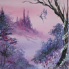 fantasy art painting original (ref f 447)