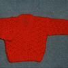 SALE red lacy crochet baby cardigan (ref f290112)