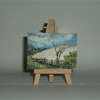 aceo watercolour miniature art painting (ref f 296)