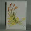 hand painted original greetings card (ref f310)