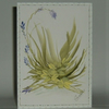 hand painted original art greetings card (ref f311)