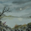 original art painting watercolour landscape...( ref F 594)