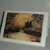 Landscape painting blank greetings card ( ref F 600)