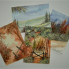 SALE Bundle of FOUR aceo watercolour paintings. ( ref F 906)