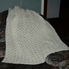 SALE....Crochet white Baby Shawl ( ref F 667)