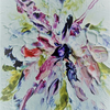 original art, floral abstract painting ( ref f 147)