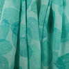 Hand dyed, Hand Screen Printed Skeleton Leaf Cotton Scarf, Shawl. Turquoise Teal