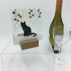 Fused Glass Cat Snow Christmas Tealight Holder Suncatcher