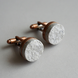 Recycled Paper Cufflinks, First Anniversary Gift
