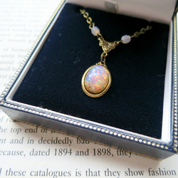 Vintage Style Art Glass Pendant Necklace