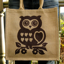 Cute Jute Owl Bag